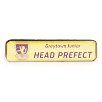 Logo Title on Gold, SCH034 | Club & School Badges