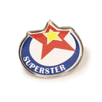 Metal Superstar Badge, SCH036 | Club & School Badges